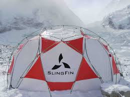 slingfin tent - red and white